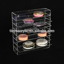 Eyeshadow Display Stand Gorgeous Counter Cosmetic Makeup Display OrganizerClear Compact Powder
