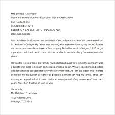 Appeal Letter Format Examples Appeal Sample Letter For Financial Aid Gse Grants And