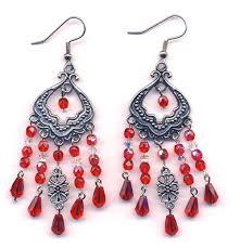 green crystal chandelier earrings red chandelier earrings