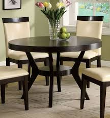 furniture of america cm3423t downtown i contemporary espresso finish round dining table