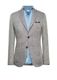 Herringbone linen blazer | MANGO MAN