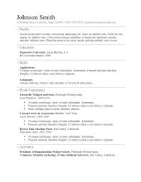 Free Simple Resume Builder Resume Example 2018