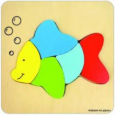 "<b>Пазл деревянный</b> 5 <b>элементов</b> alatoys ""Рыбка"" ПЗЛ1801 ..."