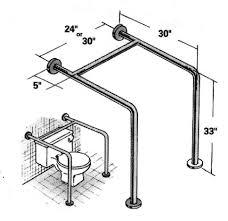 toilet straddle bar