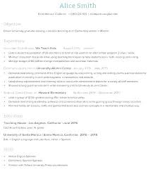 Teaching Resume Template Free Gorgeous High School Teacher Resume Template English Tutor Updrillco