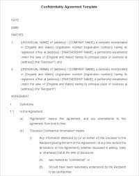 Nda Document Template Generic Nda Template Vitaminac Info