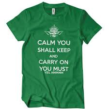 Textual Tees Size Chart Calm You Shall Keep And Carry On You Must T Shirt