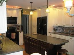 Kitchens With Black Appliances Hang Nickel Pendant Lamp Lighting Kitchens With Black Appliances