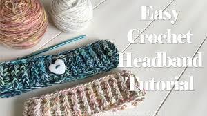 Crochet Headband Pattern Simple Easy Crochet Headband Tutorial Beginner Friendly YouTube