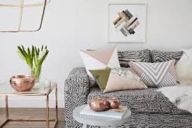 Small Picture Home Decor Explosive Mix copper floor lamps and pink details