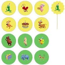 Word World Cupcake Toppers Food Picks Birthday Party Supplies On