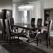 large modern italian veneered extendable dining table set modern dining table chairs designs
