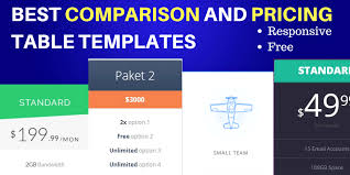 Pricing Table Templates 16 Awesome Comparison And Pricing Table Templates To Check