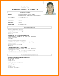 Brilliant Example Of Student Resume Philippines Also 4 Resume