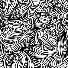 Black And White Patterns Stunning Vector Seamless Black And White Abstract Handdrawn Pattern Stock