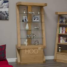 Oak Furniture Living Room Z Oak Glass Display Unit Oak Furniture By House Of Oak