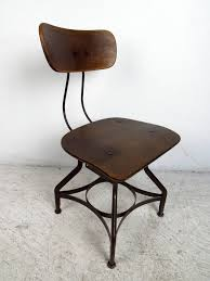 industrial steel furniture. Mid-Century Modern Industrial Desk Chair By UHL Steel For Toledo Metal Furniture Company