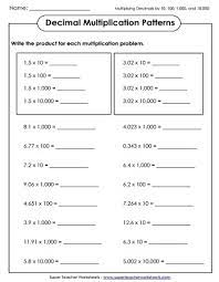 Decimals are just another way to communicate a value that is not a full whole number value. Multiplying Decimals Worksheets