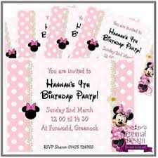 Children Birthday Invitations Details About 5 X Personalised Kids Childrens Birthday Invites Invitations Minnie Mouse 8