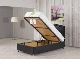 Modern twin bed Minimalist Designs By Studio Modern Storage Twin Bed Casa Rest Black Pu Leather By Casamode