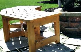 full size of white outdoor table and bench seat how to make an backyard ideas build