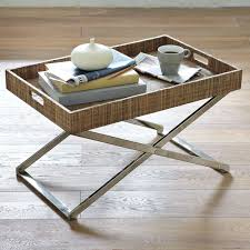 Butler Tray Coffee Table Getting Benefit From Metal Tv Tray Tables At Home