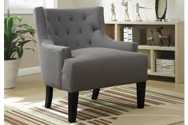 Living Room Accent Chair Poundex F1413 Living Room Accent Chair With Grey Polyfiber Upholstery