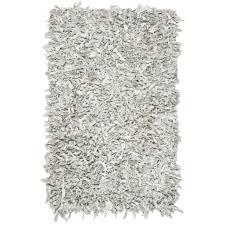 safavieh hand knotted leather grey white leather rug 5 x 8