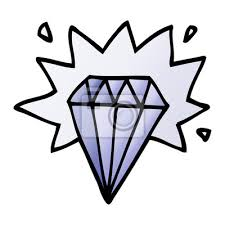 Fototapeta Kreslený Doodle Tetování Diamant