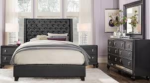 upholstered king bedroom sets. Sofia Vergara Paris Black 7 Pc King Upholstered Bedroom - Sets  Upholstered King Bedroom Sets E