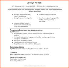 Resume Example For Language Skills Resume Ixiplay Free Great