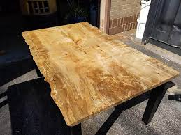 live edge maple table