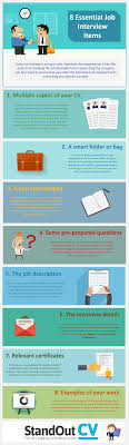 Infographic Eight Vital Items To Bring Along To Help You Ace Your