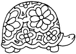 Small Picture Floral Ornament Of Turtle coloring page Free Printable Coloring