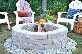 creative ideas building a brick fire pit stone round shape