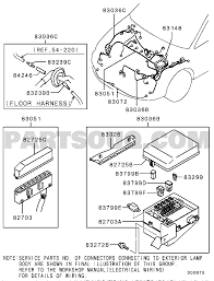 Wiring attaching parts exterior sngfzl6 ct9a eu 154 710d00675t part catalog eumodel ct9acode