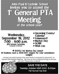 Great B W Pta Meeting Flyer School Pta Stuff Pta Pta Meeting