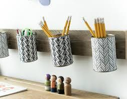 monochrome style pencil holder that hangs /Grillo Designs www.grillo-designs .com