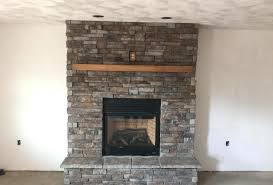 faux stone fireplace surround kits facing stack natural