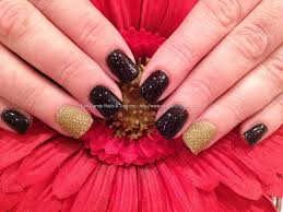 gel nail designs for fall 2014. black shadow gelish gel polish with gold caviar manicure nail art #nailart # nails taken designs for fall 2014 g