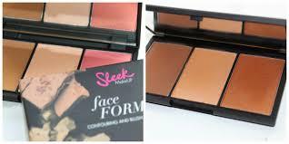 sleek makeup faceform contour and blush palette review