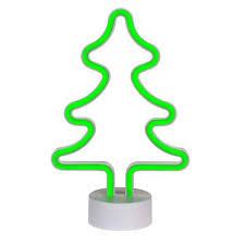 Weihnachtsdeko Led Leuchte Tannenbaum Neon Grün