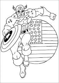 Kleurplaat Superhelden Kleurplaat Captain America Animaatjesnl