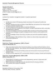 Property Management Skills Resume Resume For Property Manager