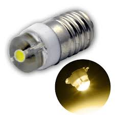 <b>2pcs</b> DC3V <b>E10</b> Screw Base 0.5W <b>LED Torch</b> Flashlight Working ...