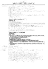 Elementary Principal Resume Samples Velvet Jobs