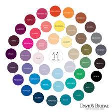 Wedding Color Chart Davids Bridal Color Chart Horizon Malibu Oasis Begonia