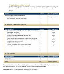 Family Budget Worksheet | Free & Premium Templates