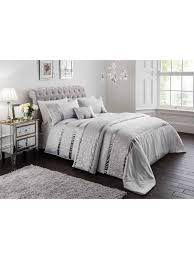 quilted sequin bedding collection silver