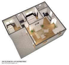 3d floor plans 3d floor plan isometric small home plan